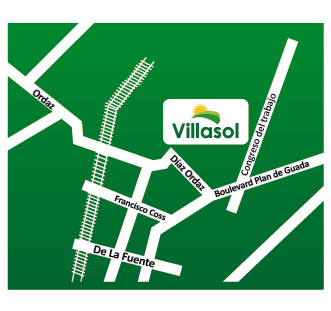 Croquis fraccionamiento Villasol