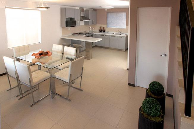Casas en Apodaca -  Comedor y cocina - Triana Palmas