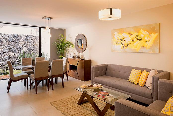 Casas en quer taro antalia residencial for Como decorar una sala larga y angosta