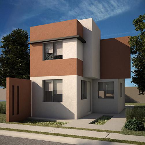 Casas en Apodaca, Modelo Coruña - Modena Residencial