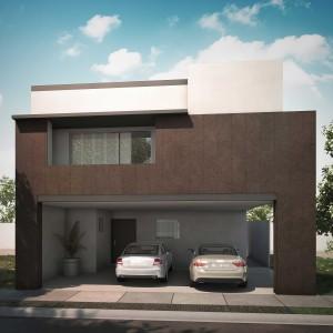 Casas en Venta en Monterrey, Fraccionamiento Cumbres Madeira Frances, Modelo Magenta Descendente