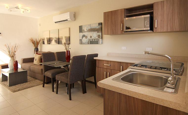Casas en Ramos Arizpe - Cocina, comedor, sala - Fraccionamiento Villasol